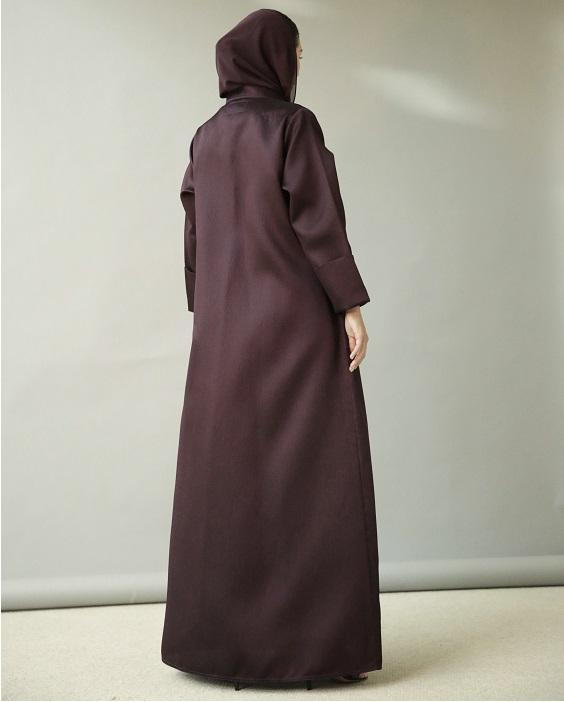 Maroon Wrap Abaya